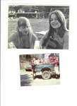 Kathy Korniloff & Diane Gager, aspiring rock goddesses circa 1970, Edgewood Elementary School.  AND Weekend in Vermont,