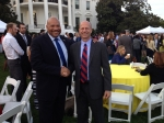 Maynard Holliday & Andy Weber @  the Obama White House in Fall 2014.